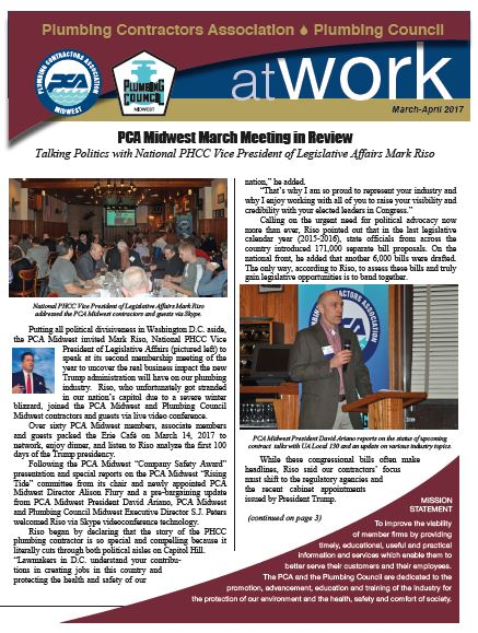 Plumbing Council Current Newsletter